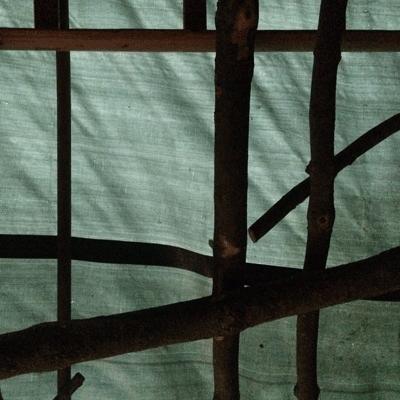 Holzstapelhuette Dachkonstruktion