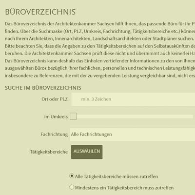 Architektenkammer Bueroverzeichnis