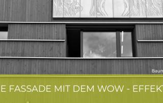 Die Fassade mit dem WOW - Effekt