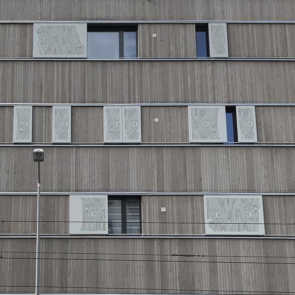 Fassade mit Rhythmus