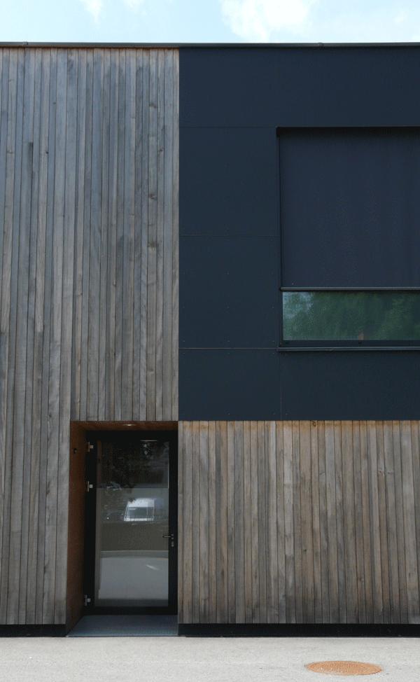 Fassade Textil Holz