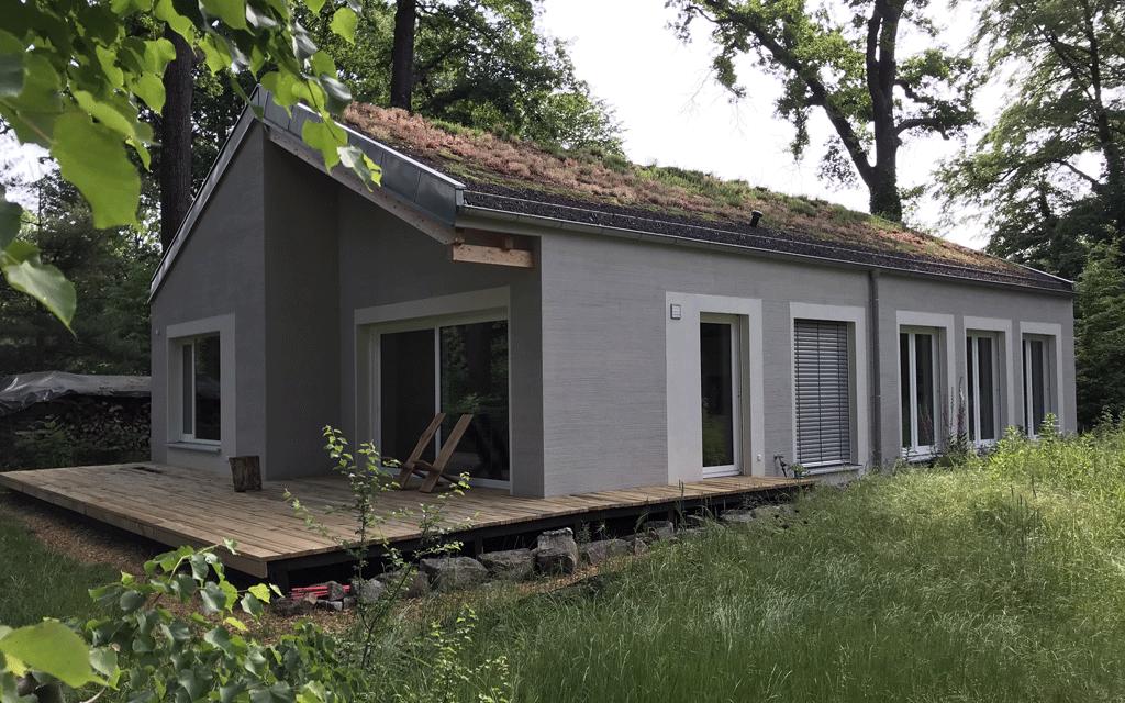 Graue Fassade
